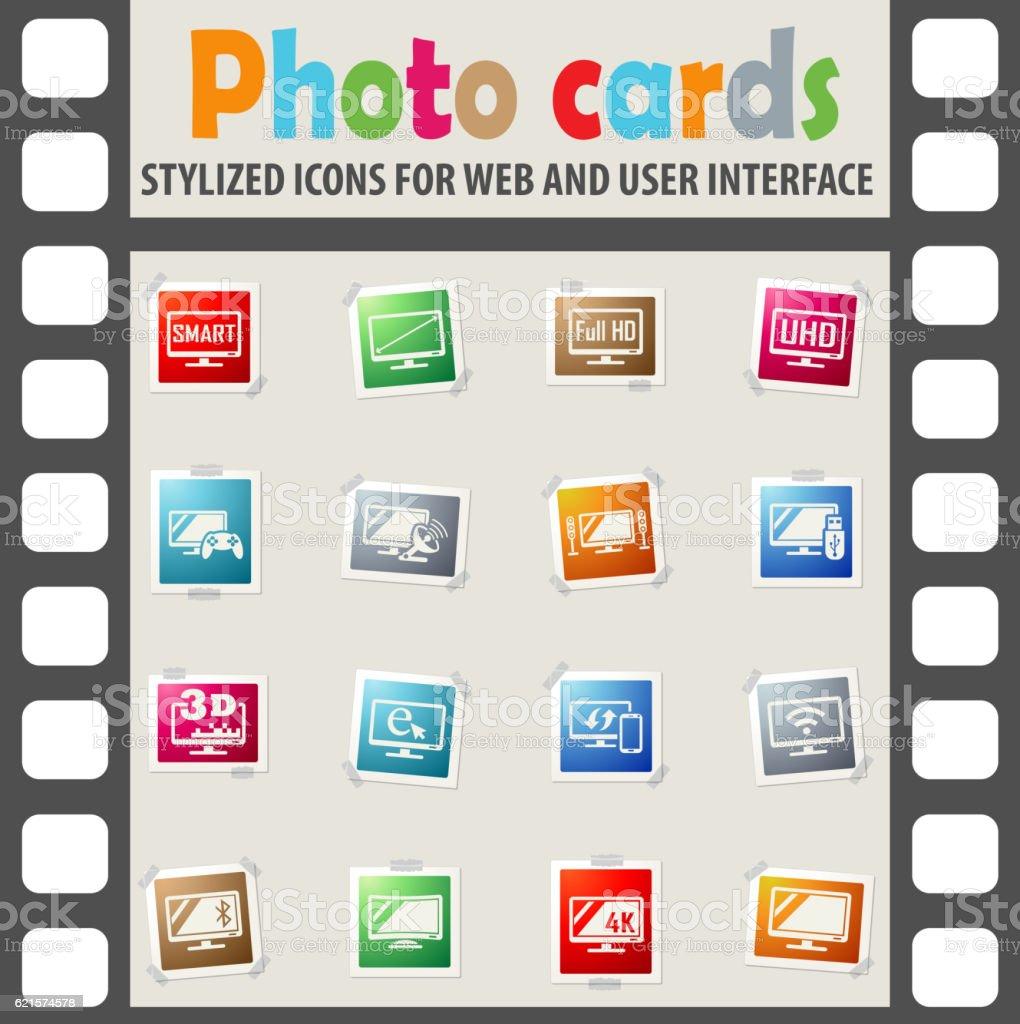 smart tv icon set smart tv icon set – cliparts vectoriels et plus d'images de bluetooth libre de droits