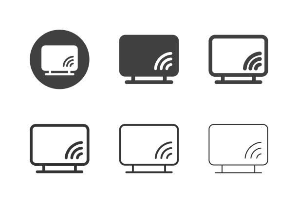 Smart TV Icons - Multi Series vector art illustration