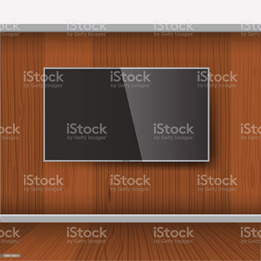 Inteligente TV modelo, Vector de Pantalla LED de montaje en pared ilustración de inteligente tv modelo vector de pantalla led de montaje en pared y más banco de imágenes de blanco - color libre de derechos