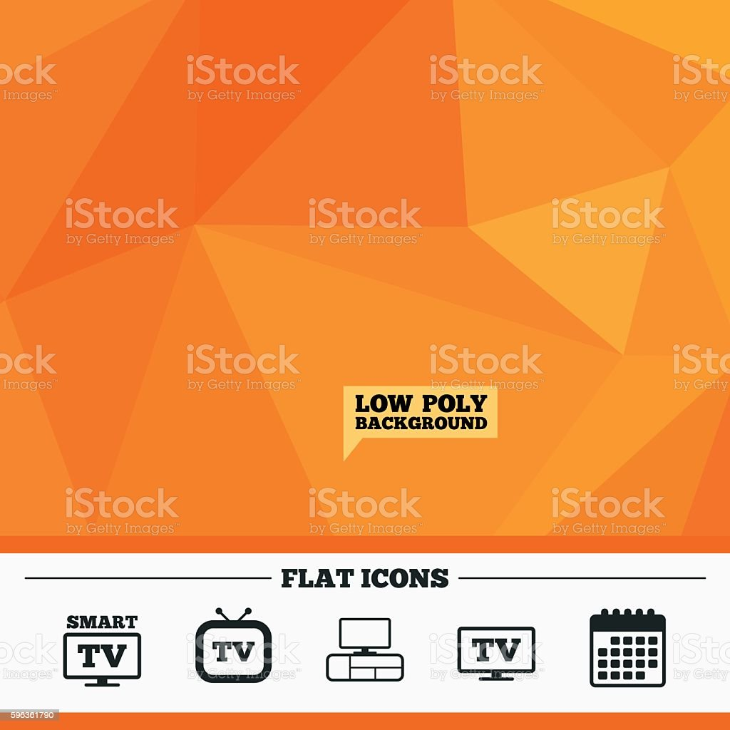 Smart TV mode icon. Retro television symbol. royalty-free smart tv mode icon retro television symbol stock vector art & more images of backgrounds