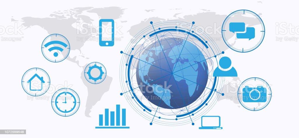 Intelligente Vektor Futuristisch Internet Der Dinge System