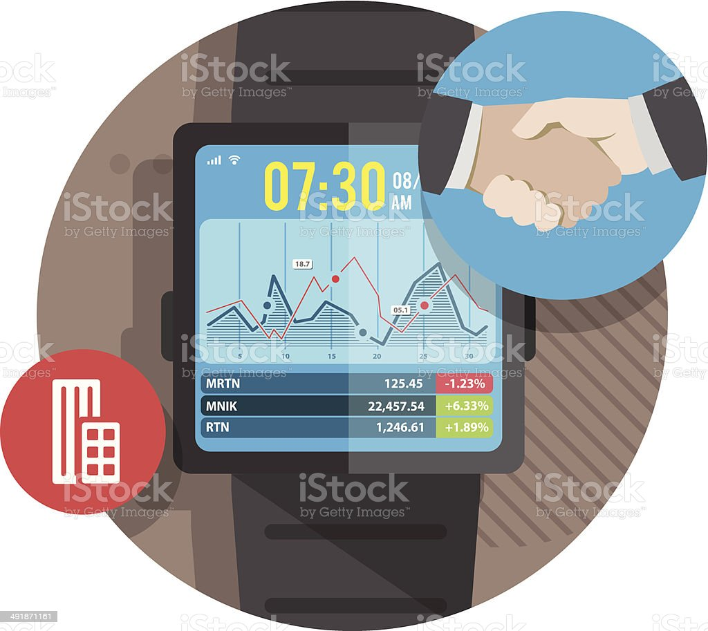 Smart watch for business royalty-free smart watch for business stock vector art & more images of art