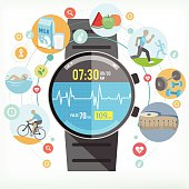 Smart watch for Healthy life .