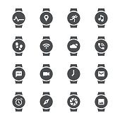 Smart Watch Icon Gray Series Vector EPS File.