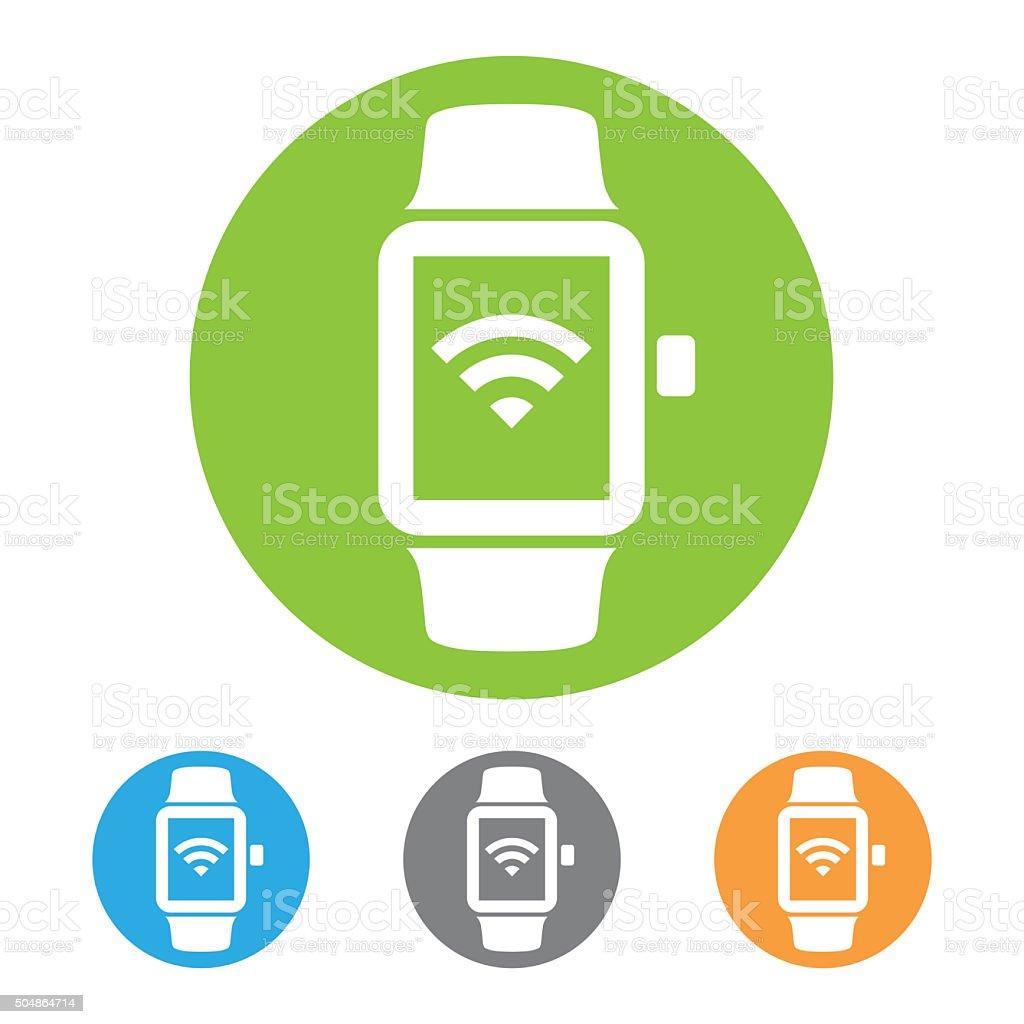 Smart watch icon vector art illustration