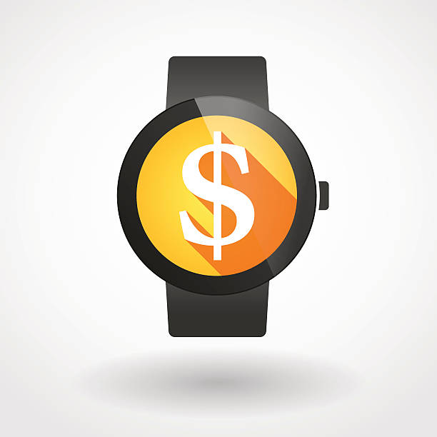 36 Smart Watch With A Dollar Sign Illustrations, Royalty-Free ...