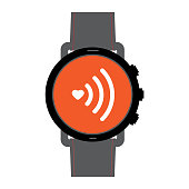 Smart watch icon with a wifi