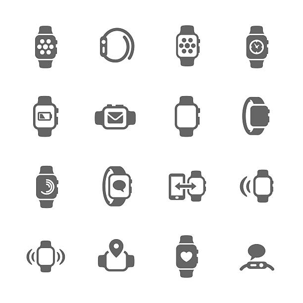 Smart Watch Icons vector art illustration