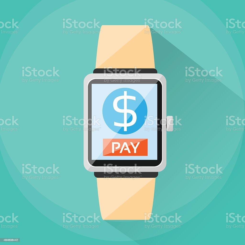 13f7756761f4 Reloj inteligente teléfonos inteligentes tecnología de aplicaciones de pago  pago ilustración de reloj inteligente teléfonos inteligentes