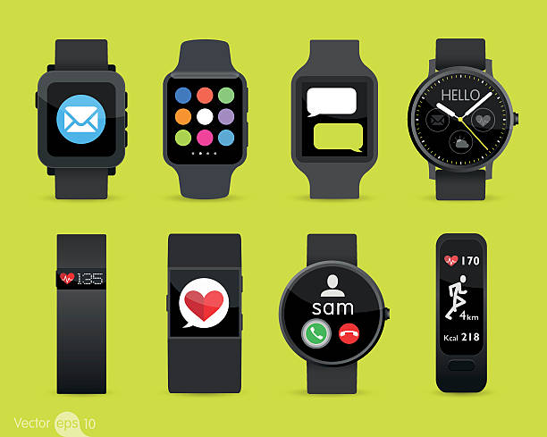Smart Watches vector art illustration