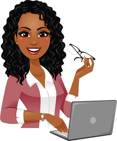 Smart Woman On Laptop Stock Illustration - Download Image Now