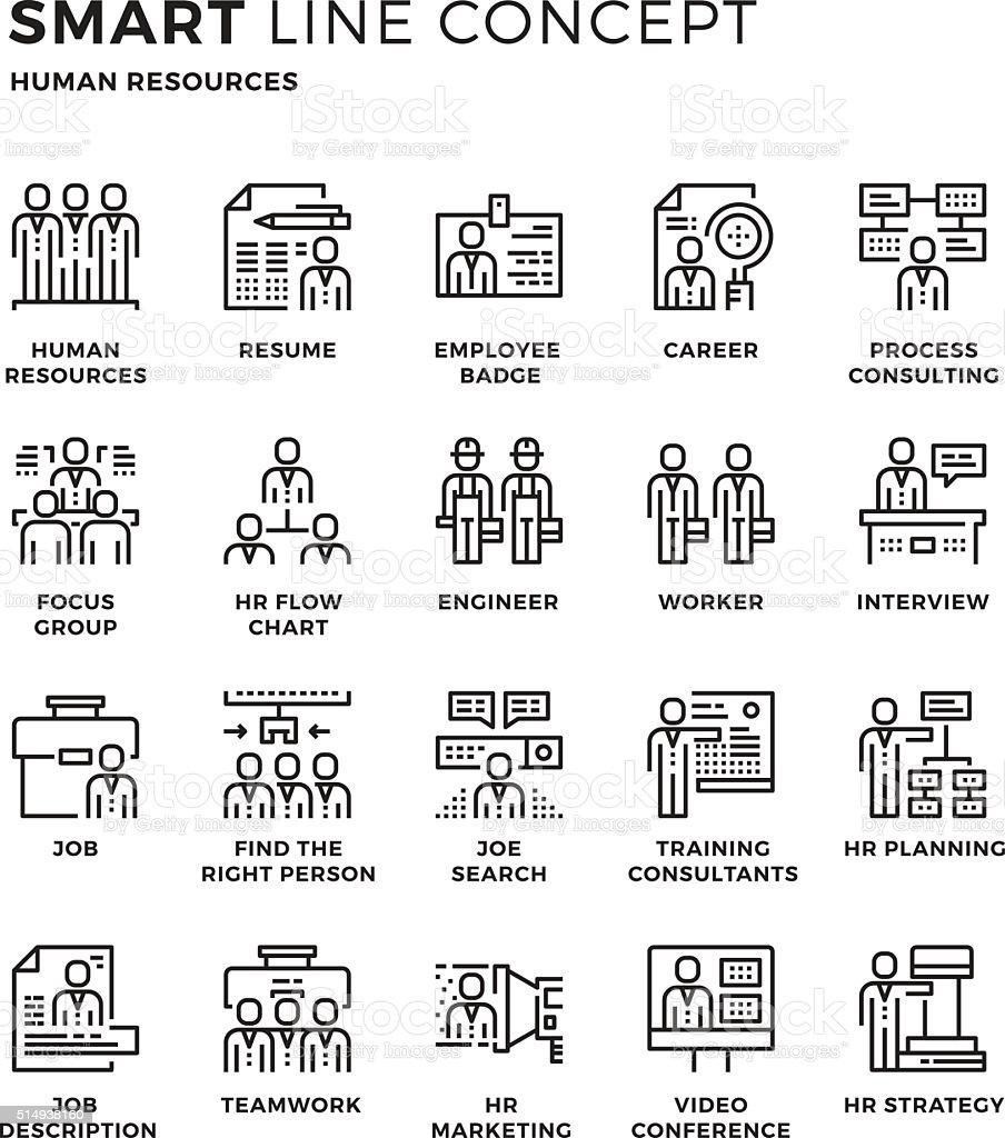 Smartline Symbol Konzept Menschlicher Ressourcen Stock Vektor Art ...