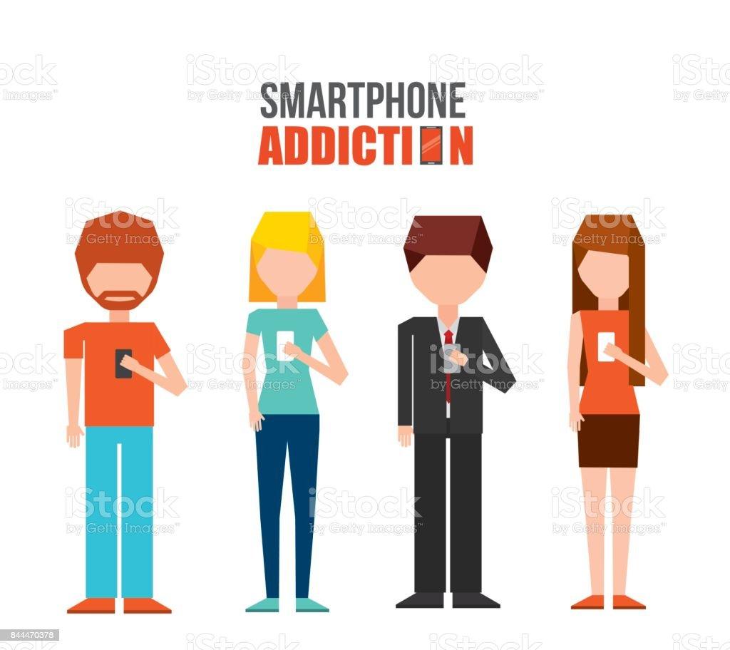 Smartphonesuchtdesign Stock Vektor Art und mehr Bilder von Comic ...