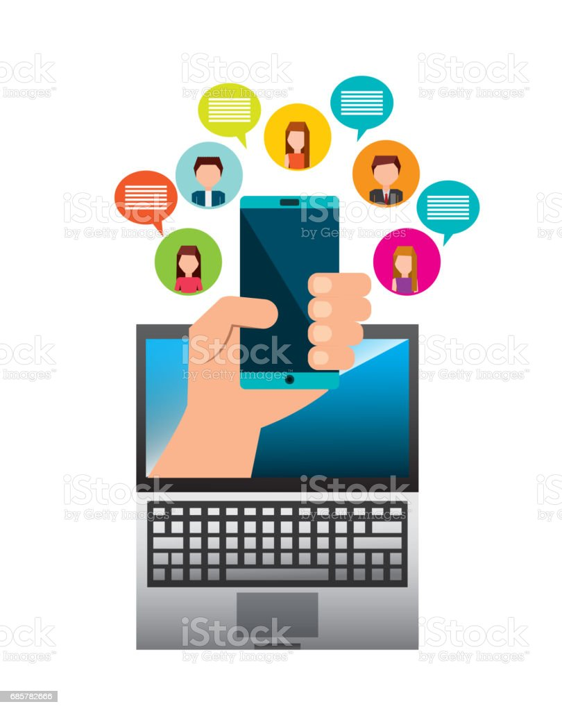 Smartphone and avatar of woman and man icon. Vector graphic royalty-free smartphone and avatar of woman and man icon vector graphic stock vector art & more images of adult