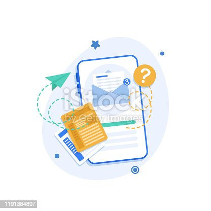 istock Smartphone and emailing,New message on the smartphone screen 1191384897