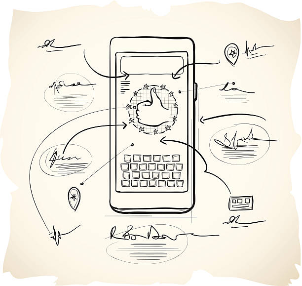 Smartphone application design vector art illustration