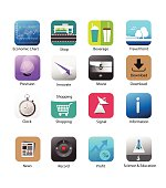 Application icon for Smart phone with White Background, Smart phone application icons, Mobile Phone Icons, icon app