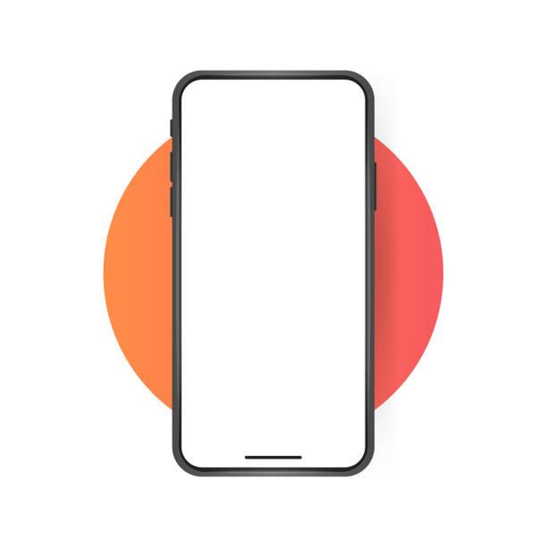 illustrations, cliparts, dessins animés et icônes de écran blanc de smartphone, maquette de téléphone. modèle pour l'infographie ou la présentation interface de conception d'interface d'interface d'interface d'interface d'interface - smartphone
