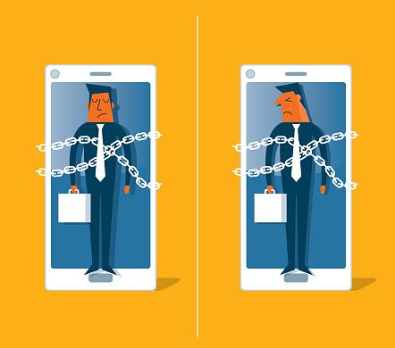 Smartphone - Businessman - Prisoner