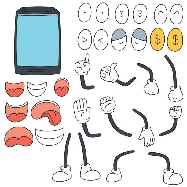 smartphone cartoon vector art illustration