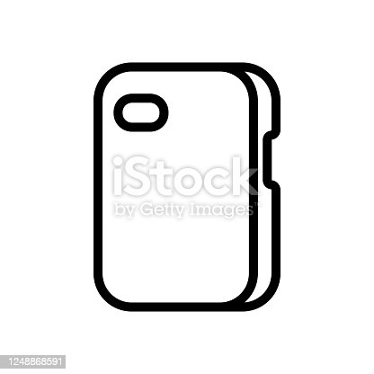 smartphone case protection icon vector. smartphone case protection sign. isolated contour symbol illustration