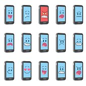 A set of 15 Smartphone characters.
