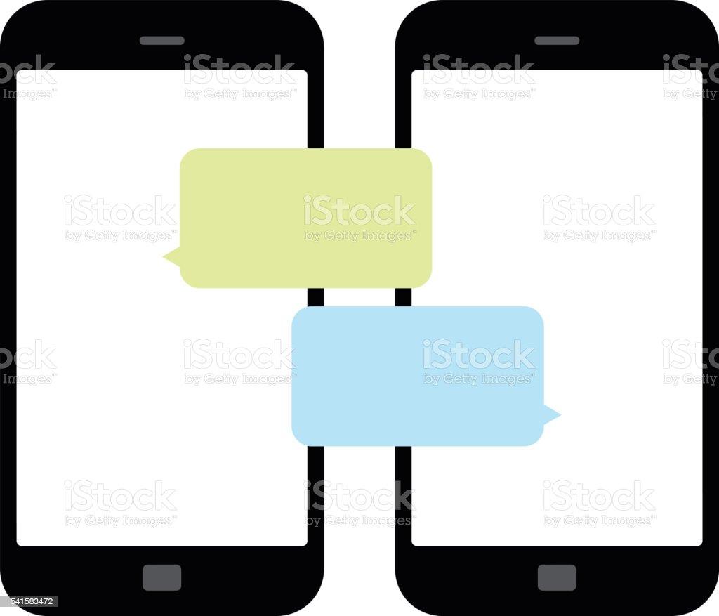 Smartphone chatting SMS Messages speech Bubbles. Vector Illustration - Illustration vector art illustration