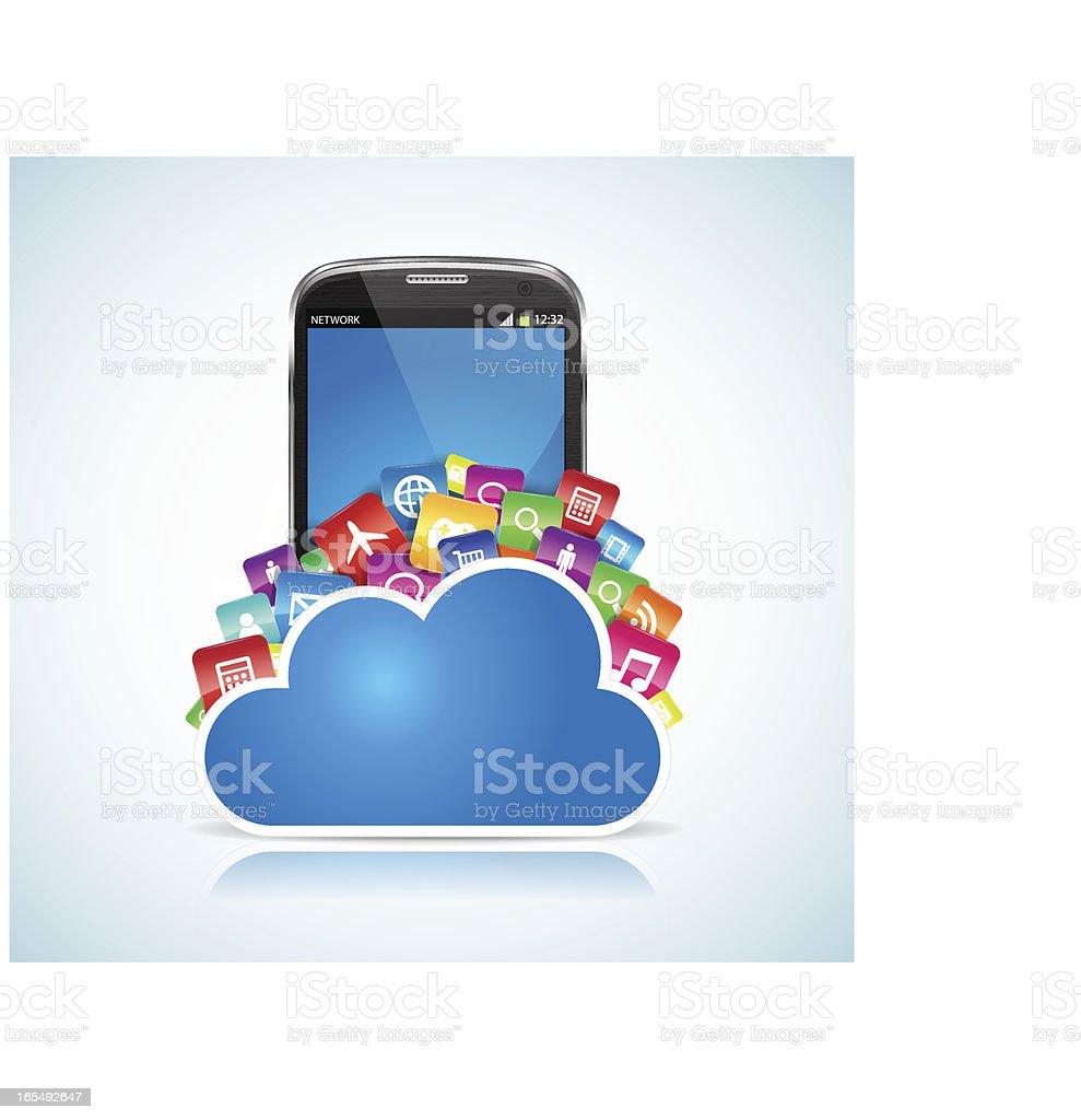 SmartPhone Cloud royalty-free stock vector art