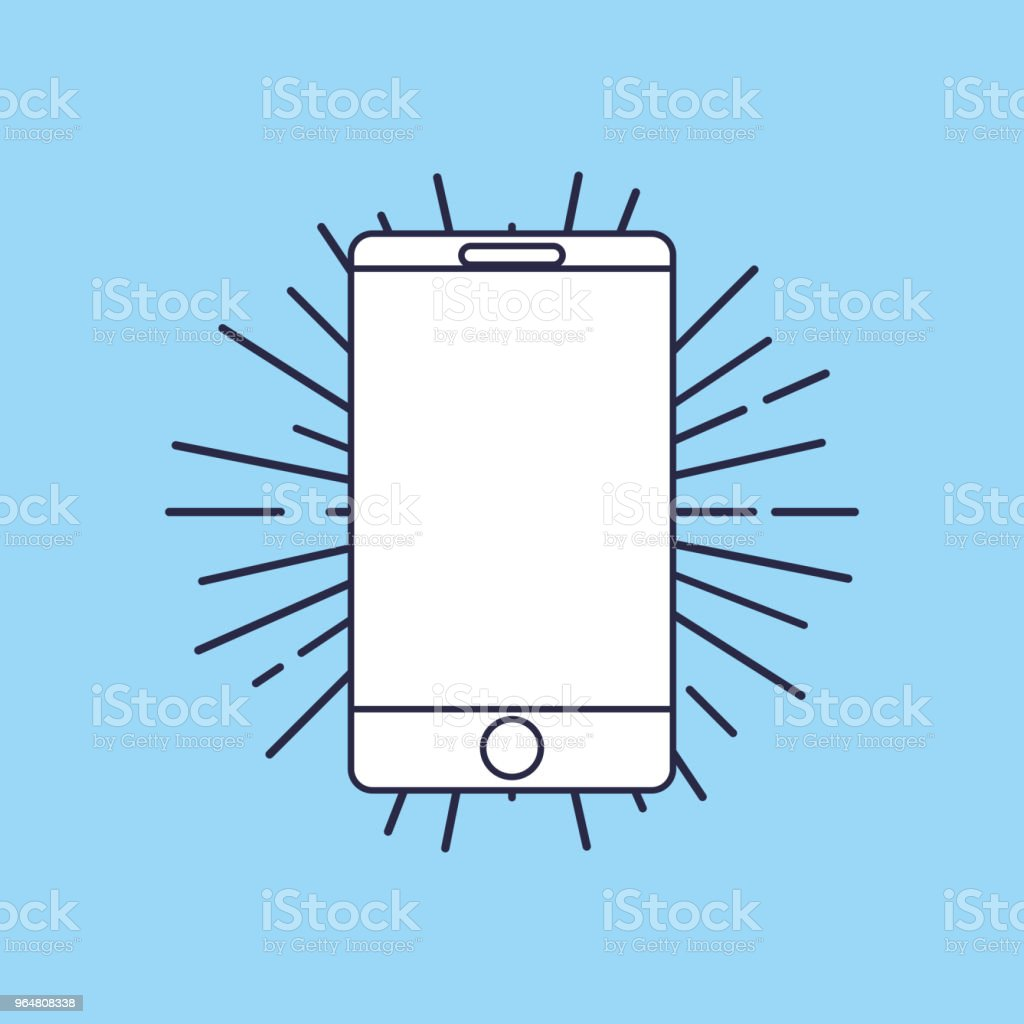 smartphone device icon royalty-free smartphone device icon stock vector art & more images of biological cell