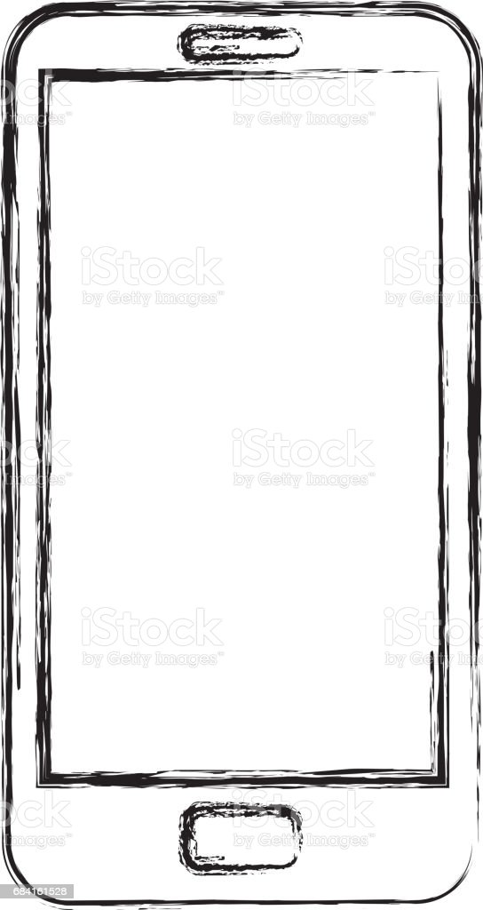 smartphone device isolated icon royalty-free smartphone device isolated icon stock vector art & more images of arts culture and entertainment