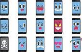 Smartphone emoticons.