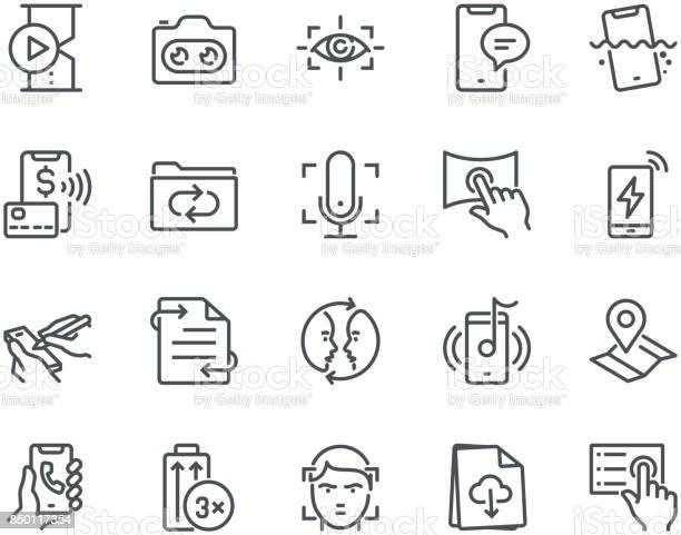 Smartphone features icons monoline concept vector id850117354?b=1&k=6&m=850117354&s=612x612&h=8qto2b9zksy51v1cy3oy0ufazppuwle8b7vnrp8dsue=