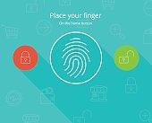 Smartphone fingerprint security access.