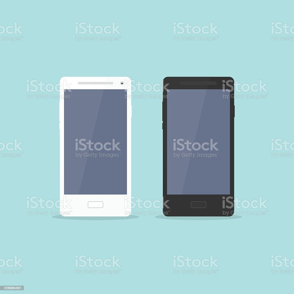 Smartphone Flat Design vector art illustration