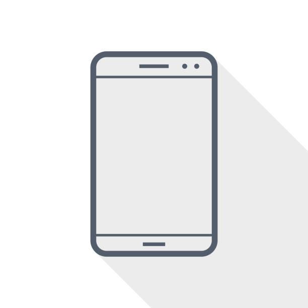 ilustrações, clipart, desenhos animados e ícones de ícone vetorial plano do smartphone, ilustração conceito de telefone celular no eps 10 - mobile