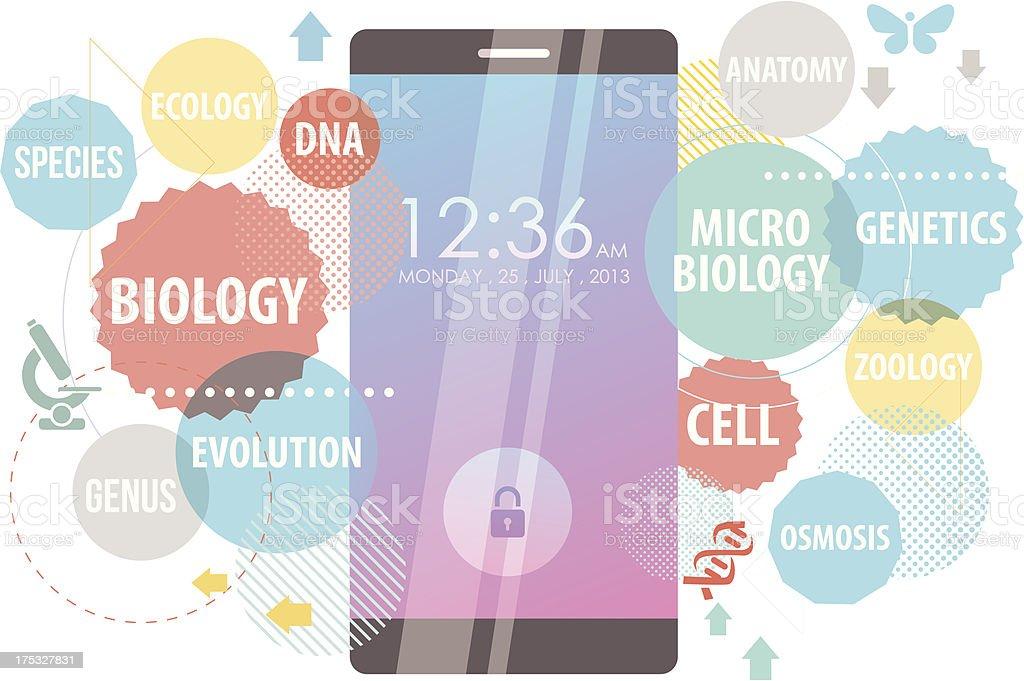Smartphone for Biology vector art illustration