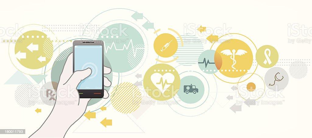 Smartphone für Gesundheitswesen – Vektorgrafik