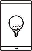 Smartphone golf game app icon