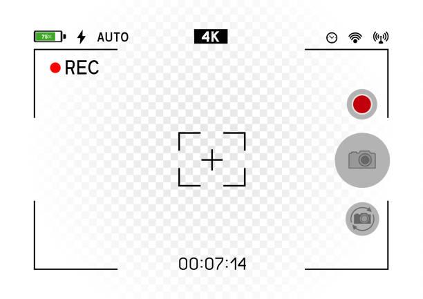 ilustraciones, imágenes clip art, dibujos animados e iconos de stock de visor de la cámara horizontal de smartphone - zoom call