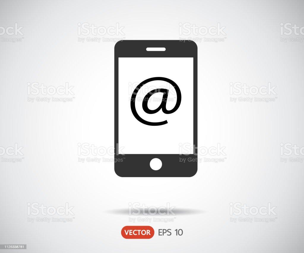 Smartphone Icon Phone Logo Vector Illustration Mobile Envelope Mail