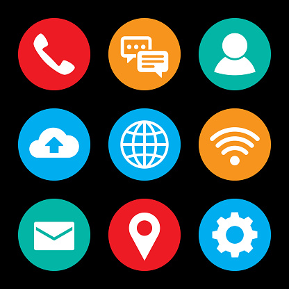 Smartphone Icon Set Colorful