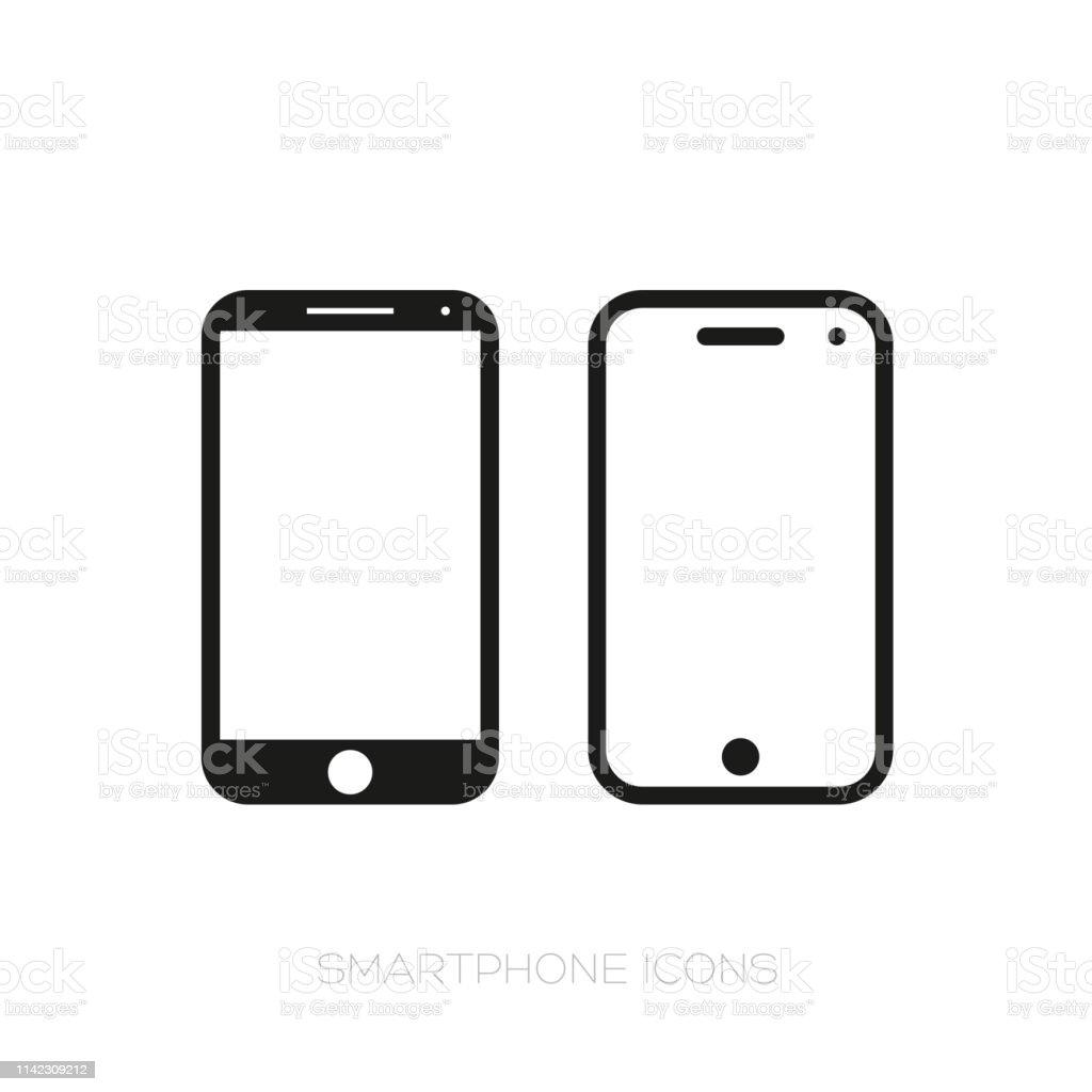 El icono del smartphone - arte vectorial de Comunicación libre de derechos