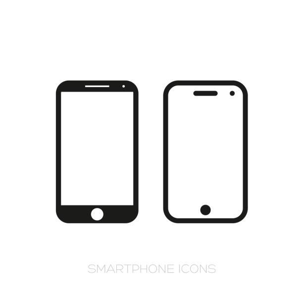 illustrazioni stock, clip art, cartoni animati e icone di tendenza di set di icone per smartphone - smart phone