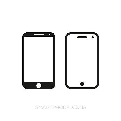 Ilustración de El Icono Del Smartphone y más Vectores Libres de Derechos de Comunicación
