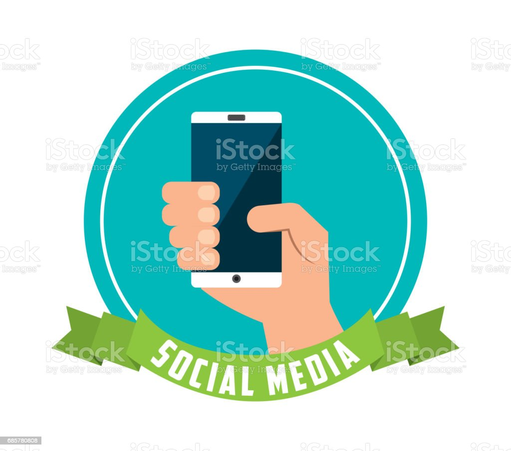 Smartphone icon. Social media design. Vector graphic royalty-free smartphone icon social media design vector graphic stock vector art & more images of colombia