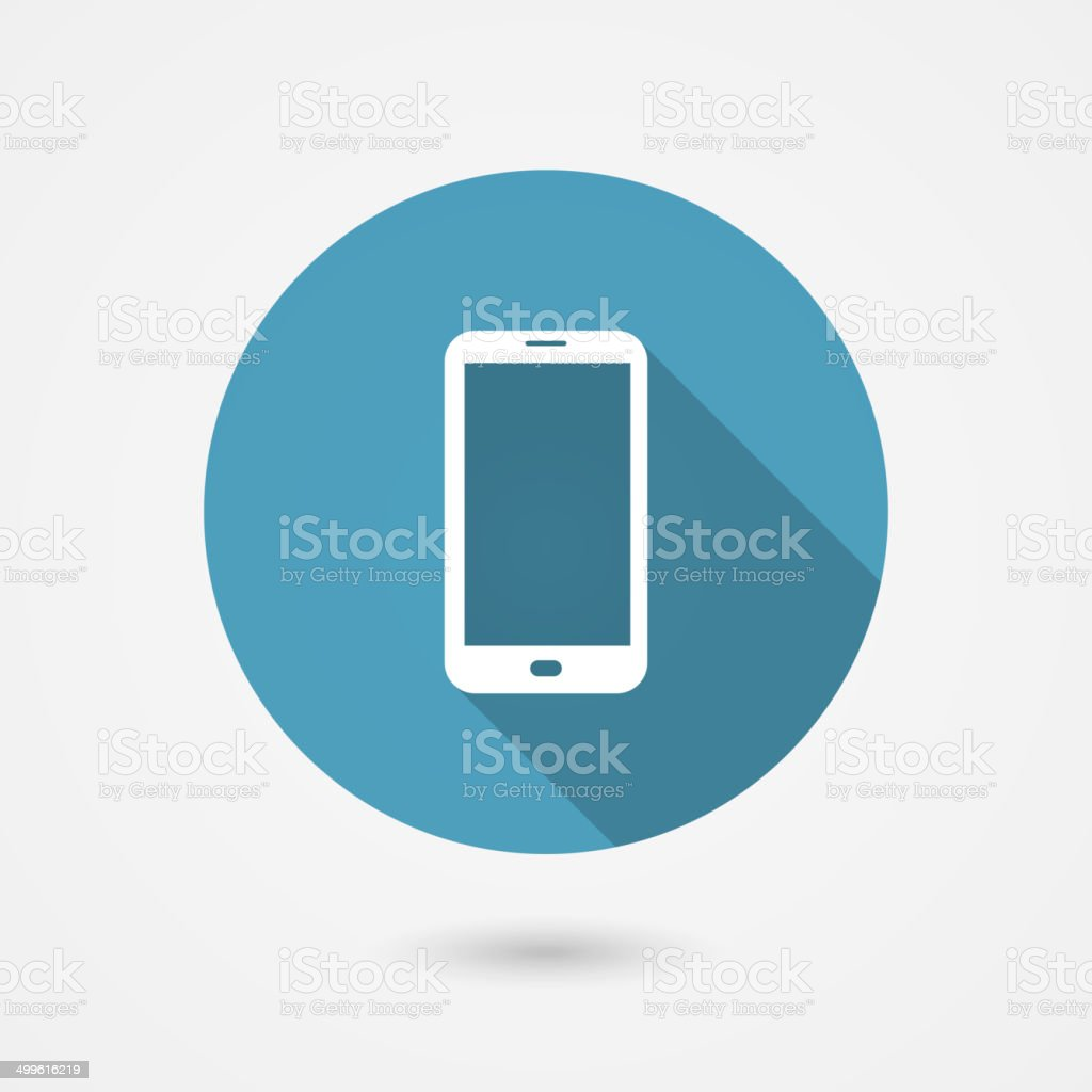 smartphone icon vector art illustration