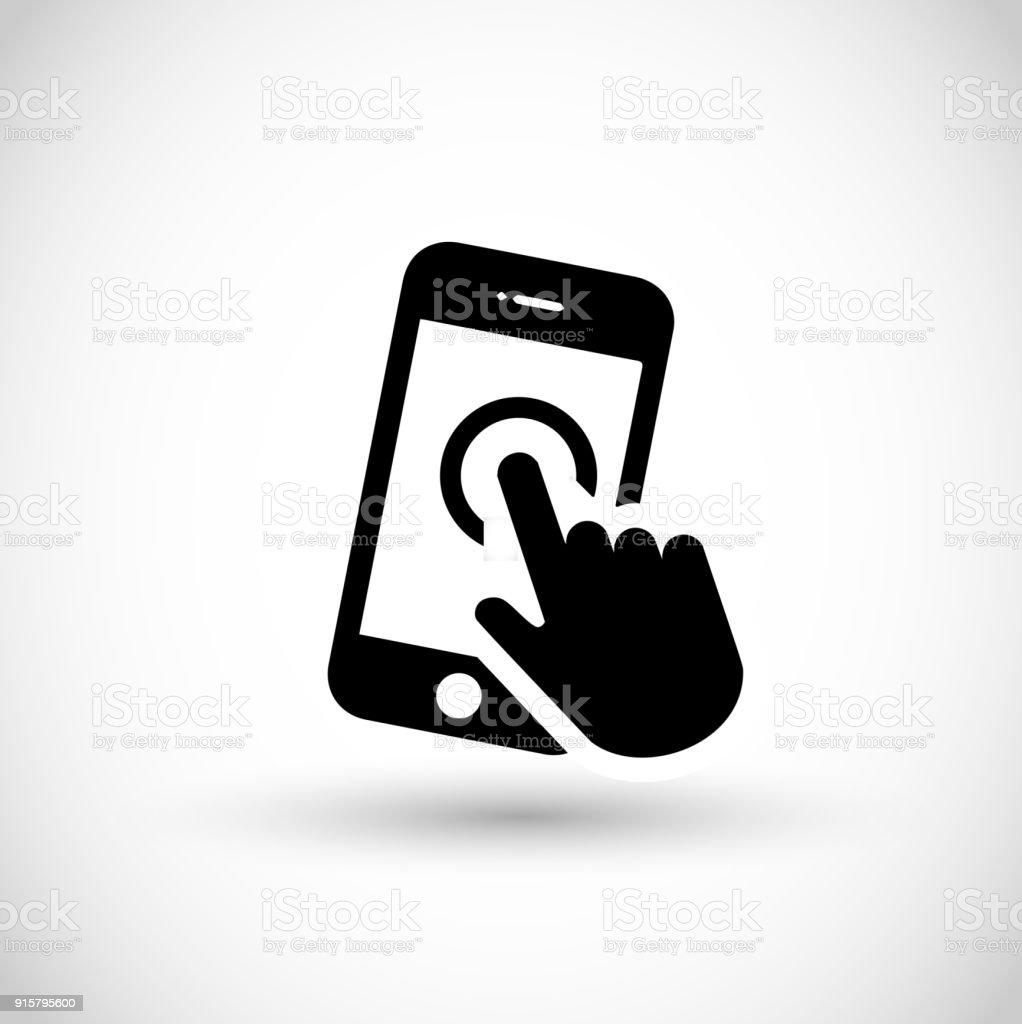 Smartphone icon vector vector art illustration