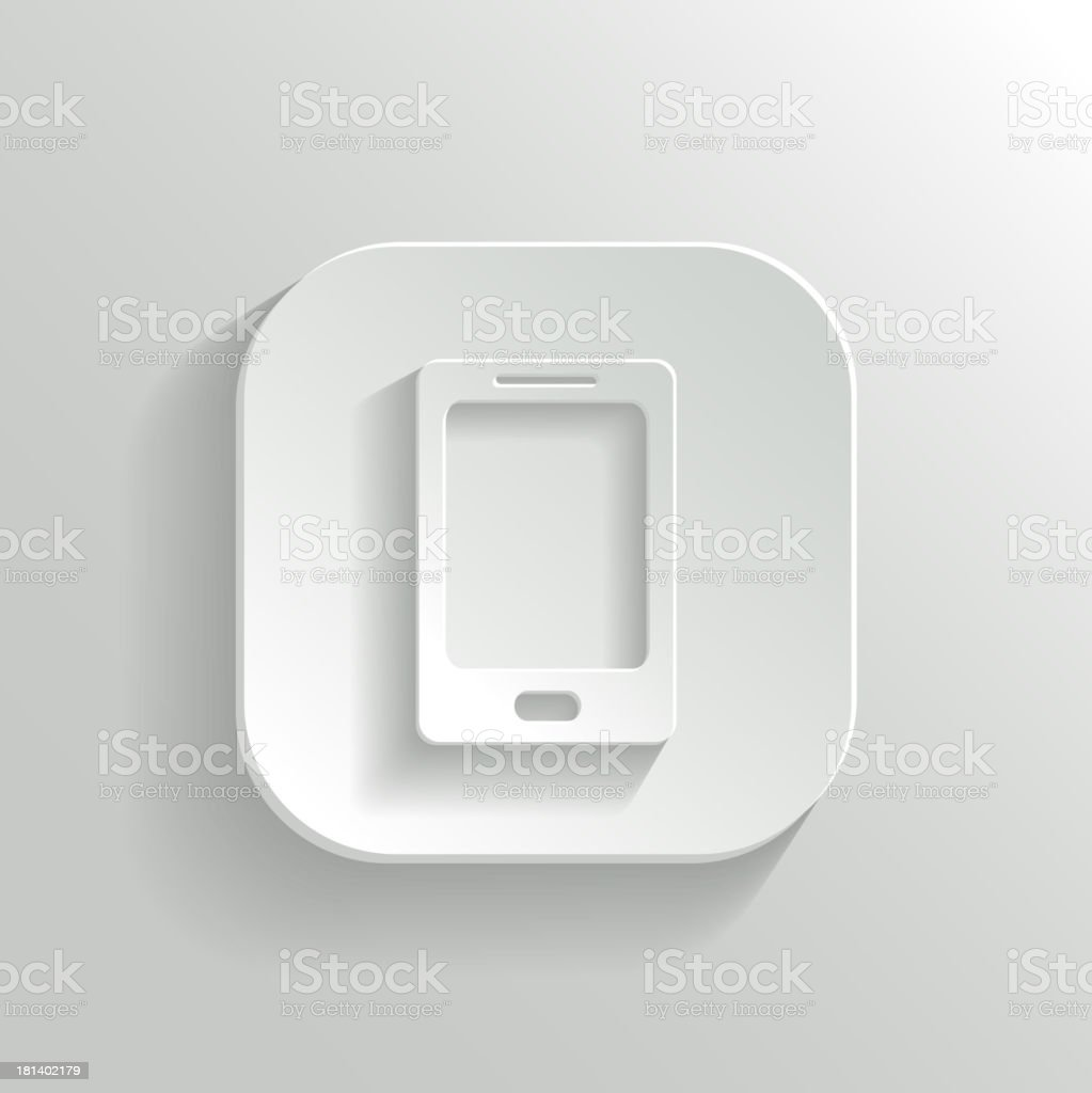 Smartphone icon - vector white app button royalty-free smartphone icon vector white app button stock vector art & more images of abstract