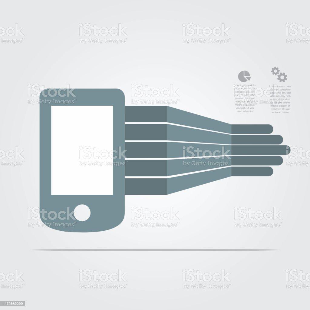 Smartphone infographic element royalty-free stock vector art
