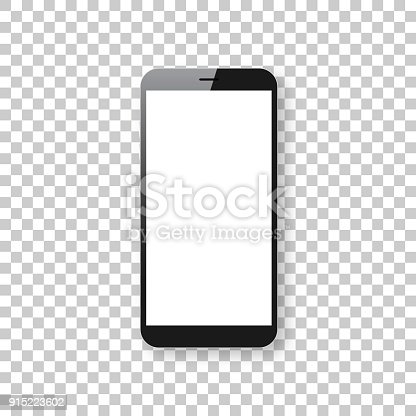Realistic mobile phone, smartphone with blank screen isolated on an blank background, for your own design. Mobile phone template for your design. With space for your text and your background. The layers are named to facilitate your customization. Vector Illustration (EPS10, well layered and grouped). Easy to edit, manipulate, resize or colorize. Please do not hesitate to contact me if you have any questions, or need to customise the illustration. http://www.istockphoto.com/portfolio/bgblue